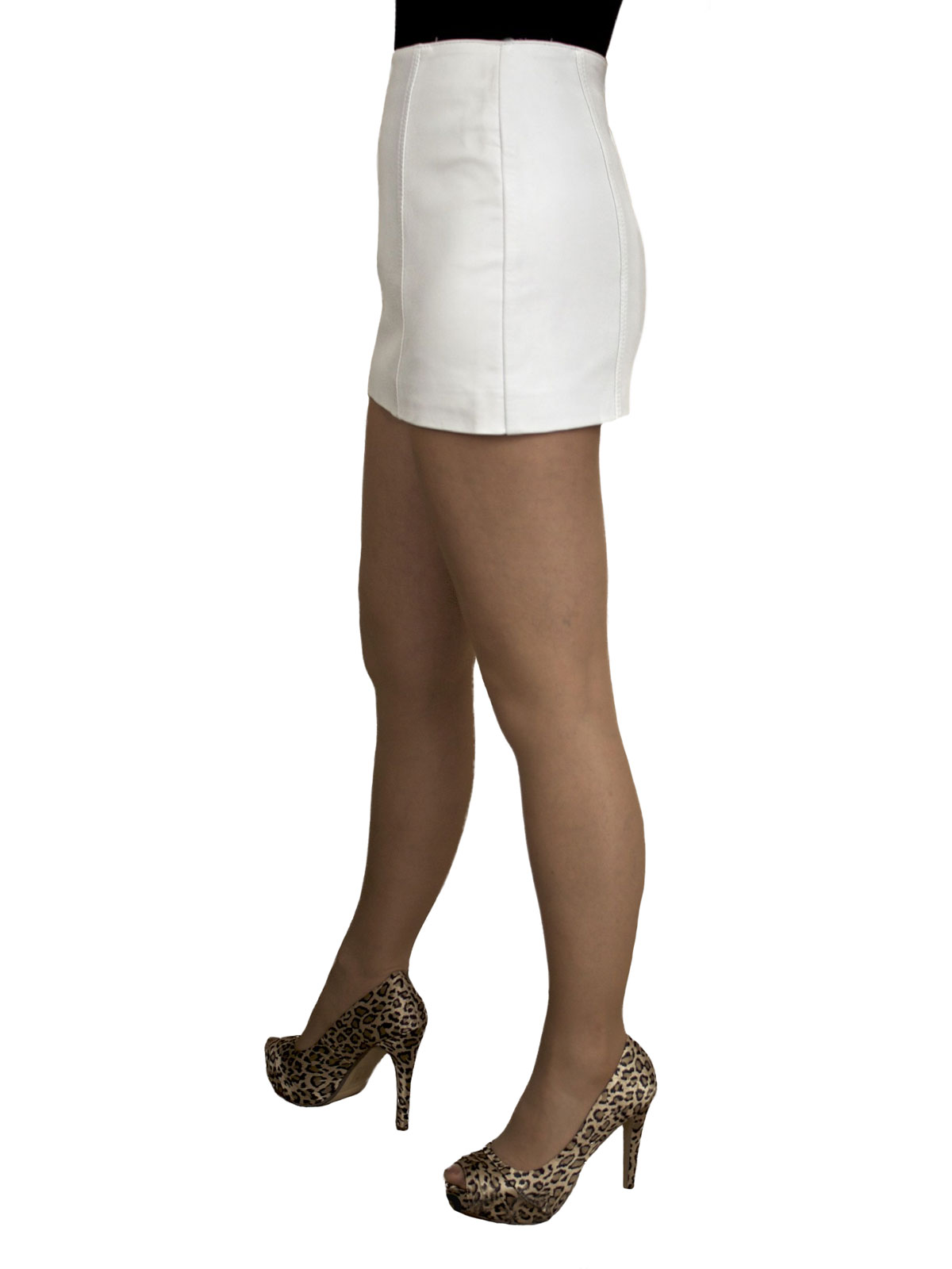 Extra Short (12in) Leather Mini Skirt