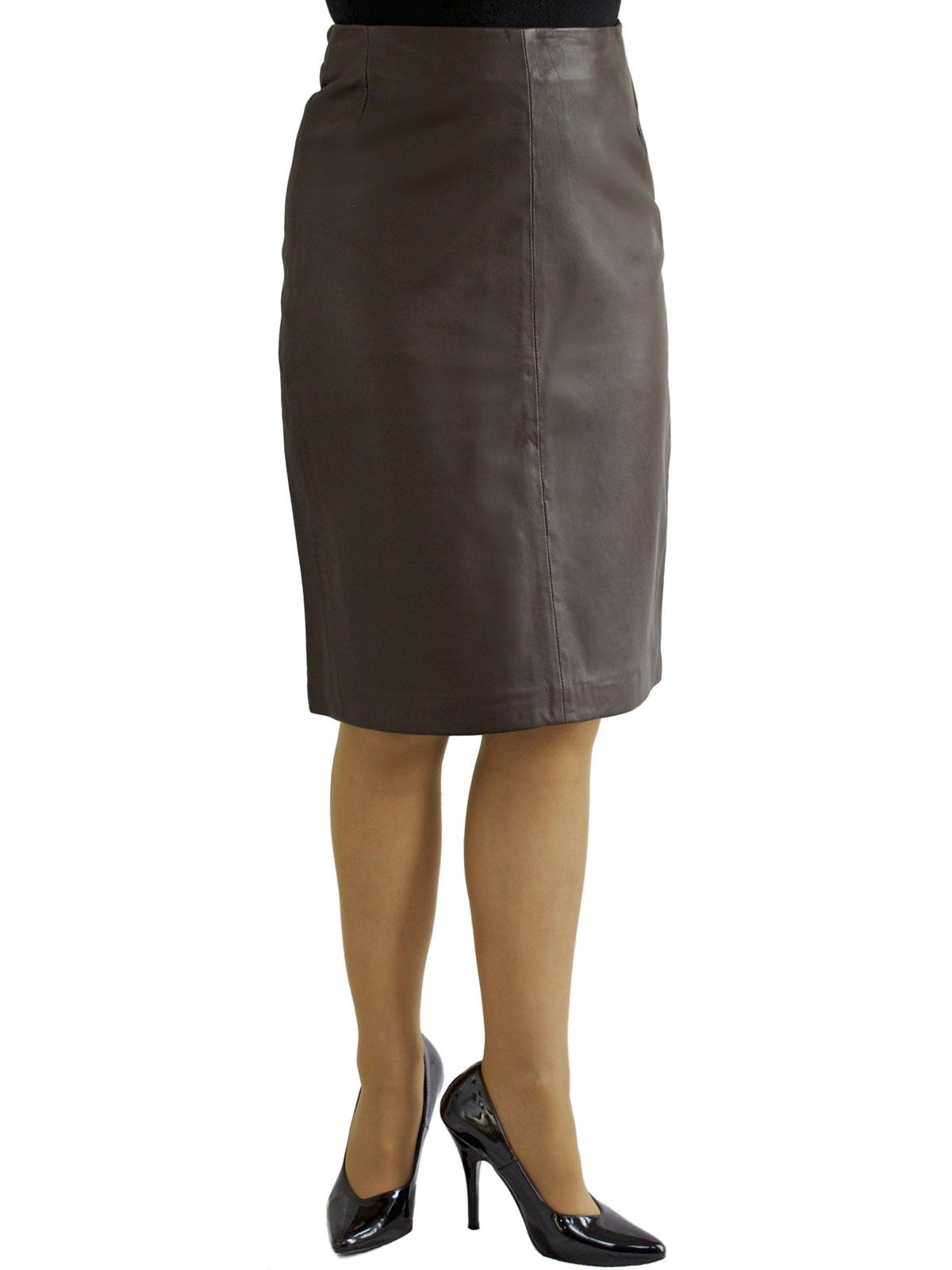 Luxury Leather Pencil Skirt with back split - Tout Ensemble