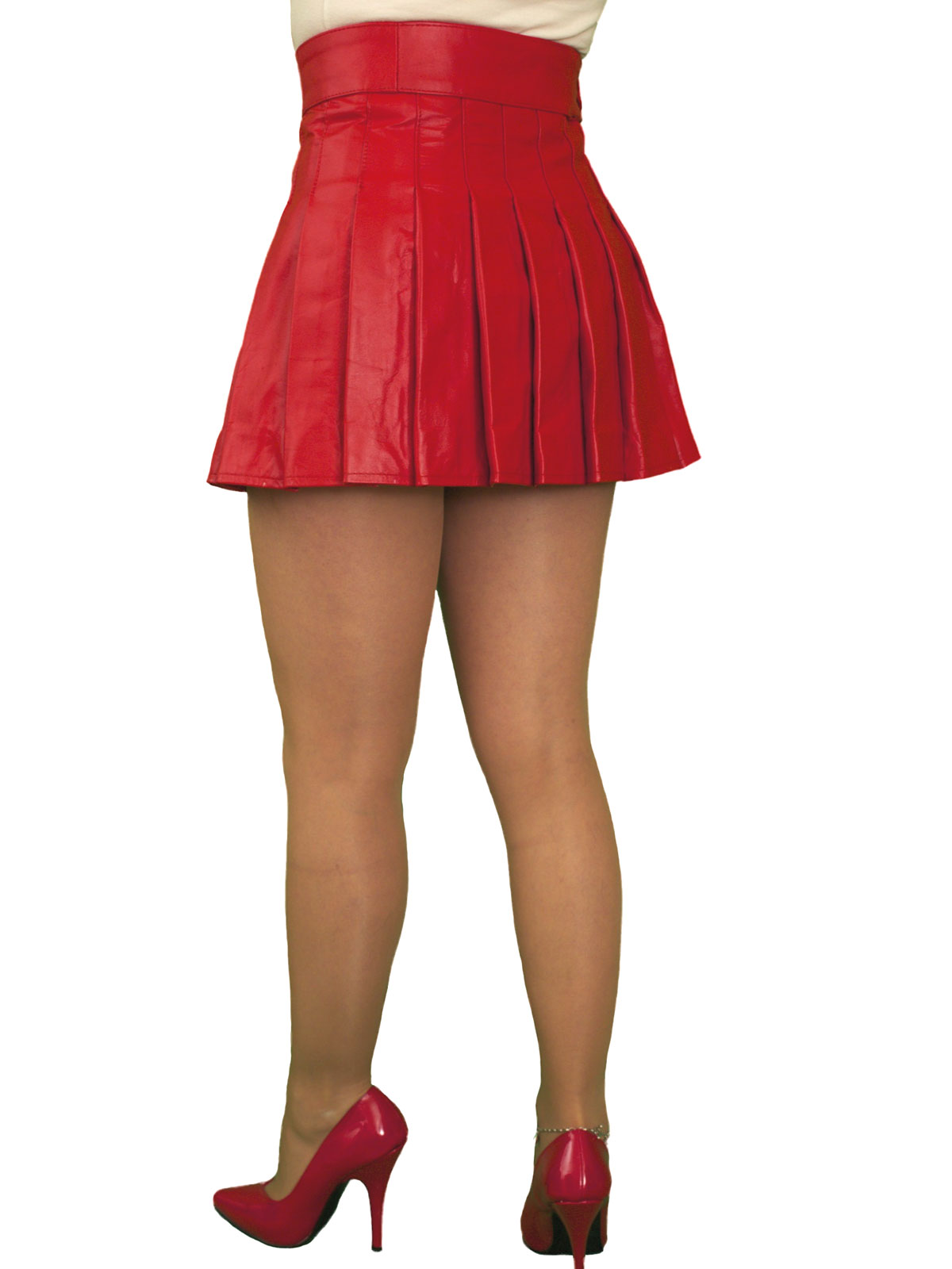 wrap around leather mini skirt kilt tout ensemble