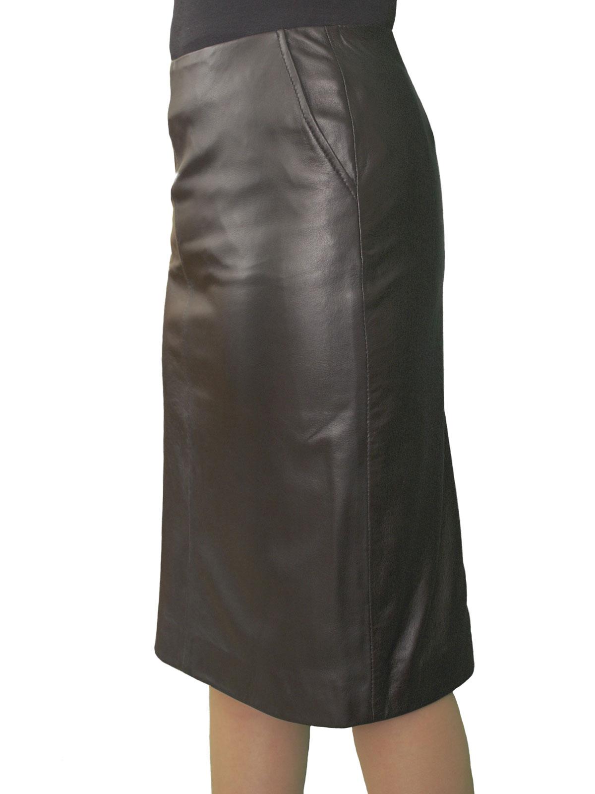 leather pencil skirt luxury soft knee length tout ensemble