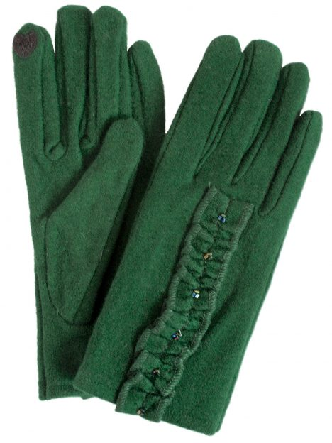 Dents Ladies Evergreen Wool Touchscreen Gloves