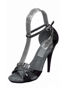Pleaser Black Patent High Heel Sandals