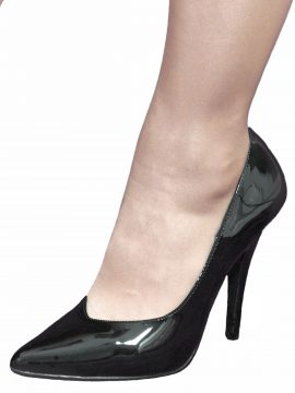 Pleaser Black Patent 5in Stiletto High Heels