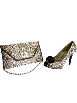 Lunar Ocelot Print Matching Heels and Bag