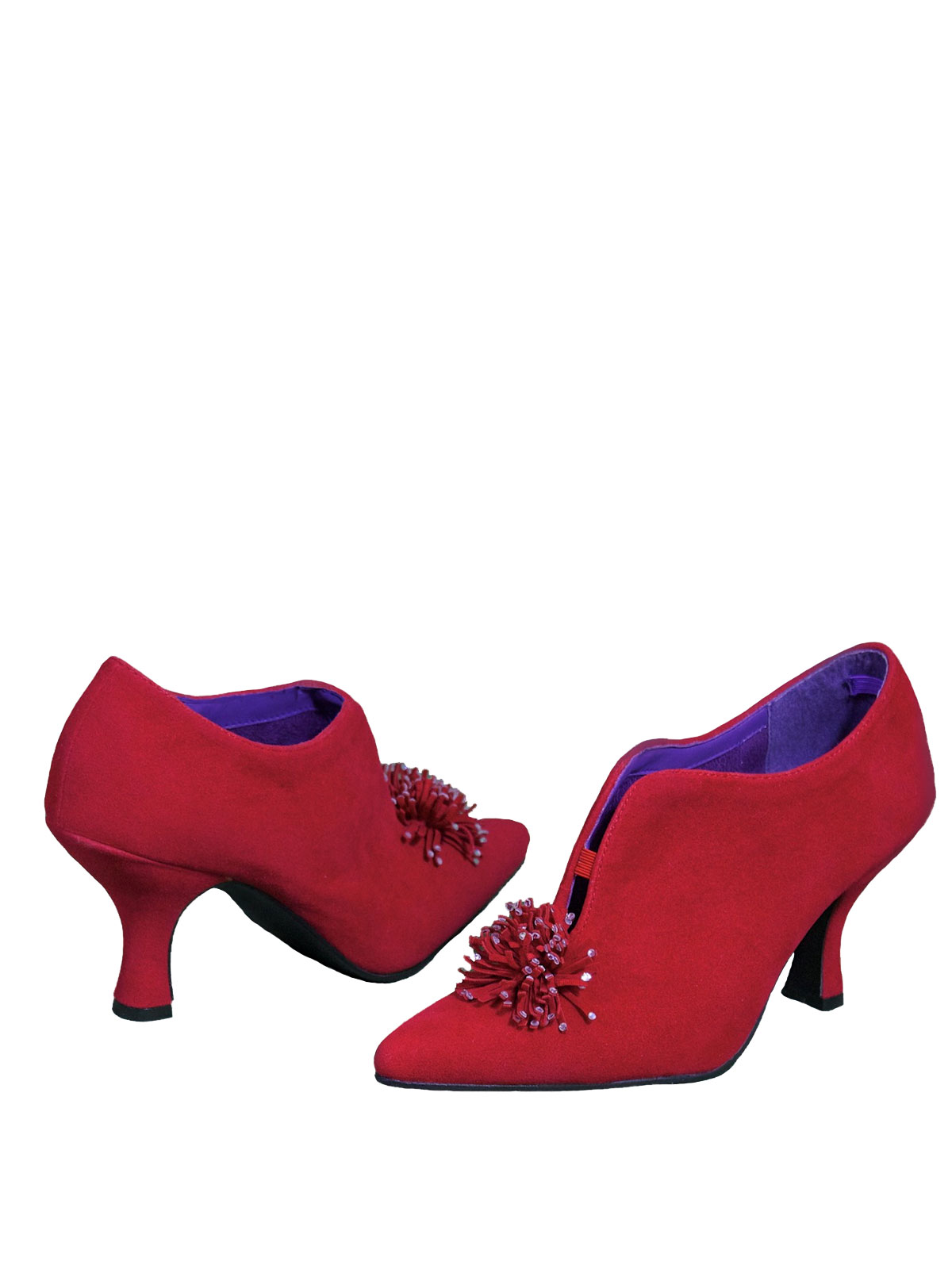 Pleaser Bordello Red Vintage Shoes French Heel Tout
