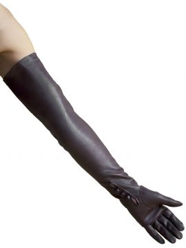 Dents Brown Long Leather Opera Gloves