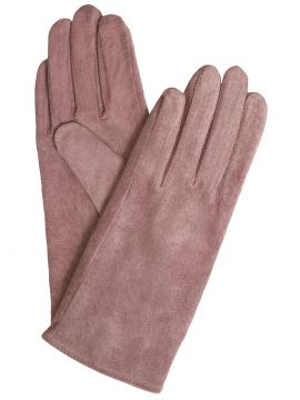 Dents Womens Suede Gloves Antique Rose