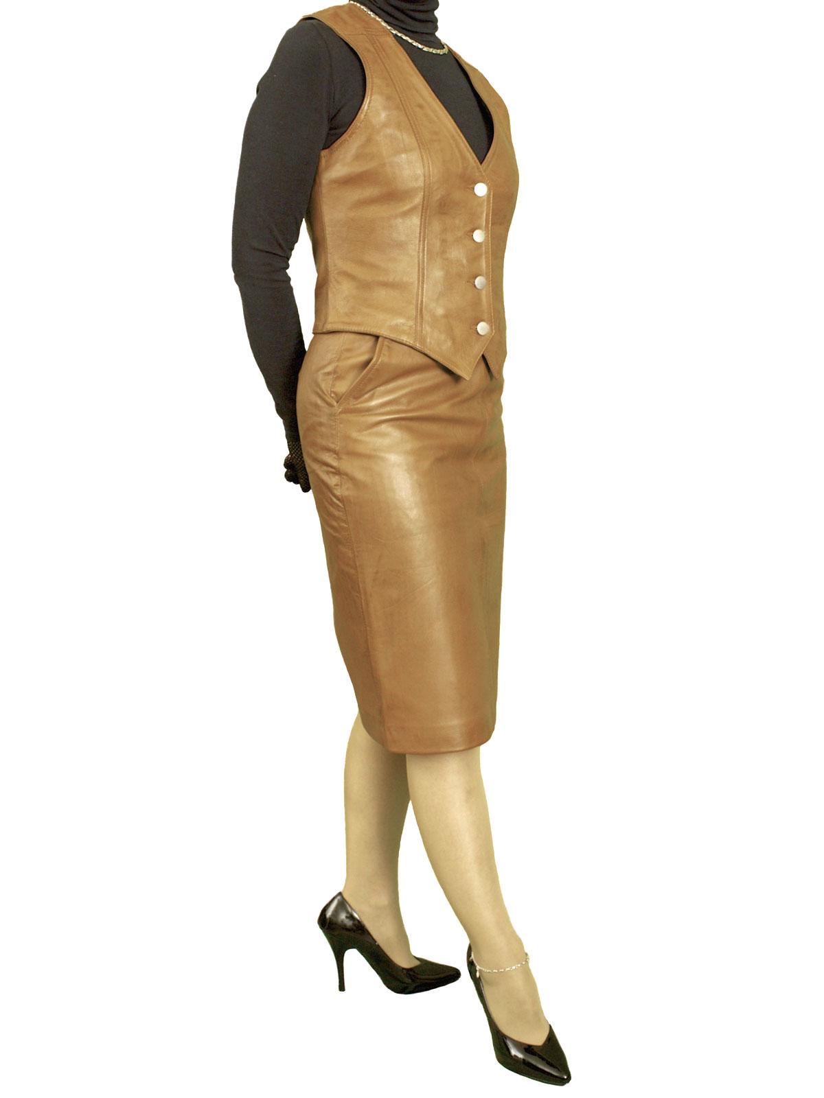 Leather Pencil Skirt, luxury soft, knee length
