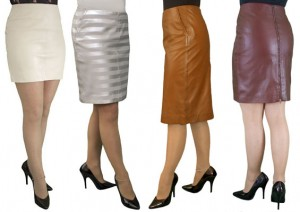 Colour Leather Skirts