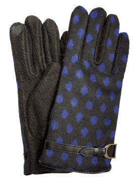 Dents Womens Wool Mix Spot Touchscreen Gloves, Black