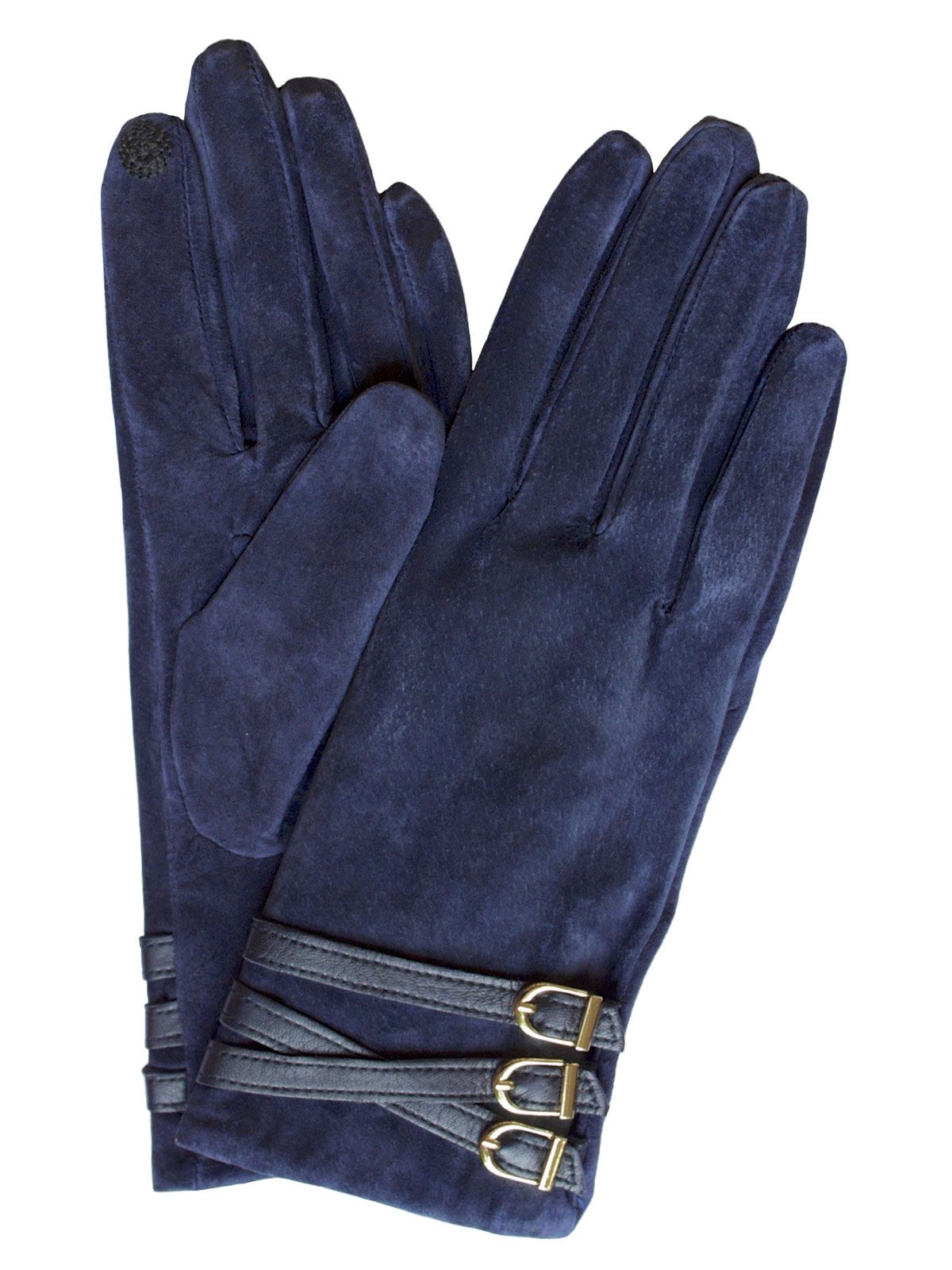 Mens leather touchscreen gloves uk - Dents Women S Suede Touchscreen Gloves 3 Buckle Strap