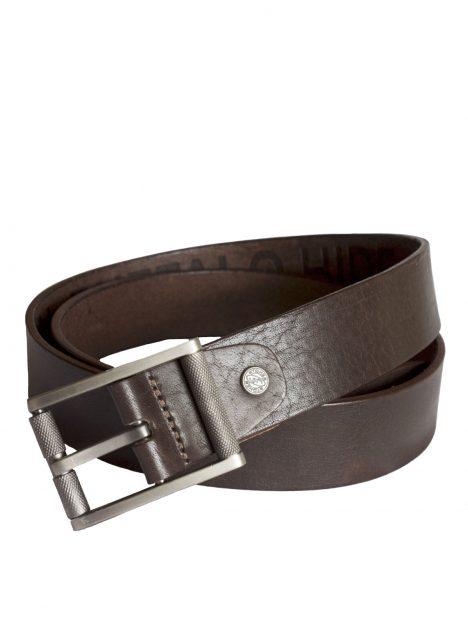 Stones Men's Leather Belt (B3), Brown