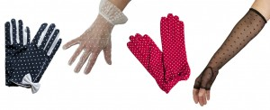 Dents Polka Dot Dress Gloves