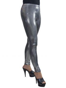 Silver Sequin Leggings