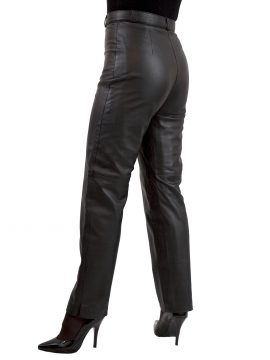 Womens Superior Black Soft Leather Trousers