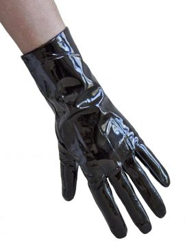 Pia Rossini Black Patent Leather Gloves