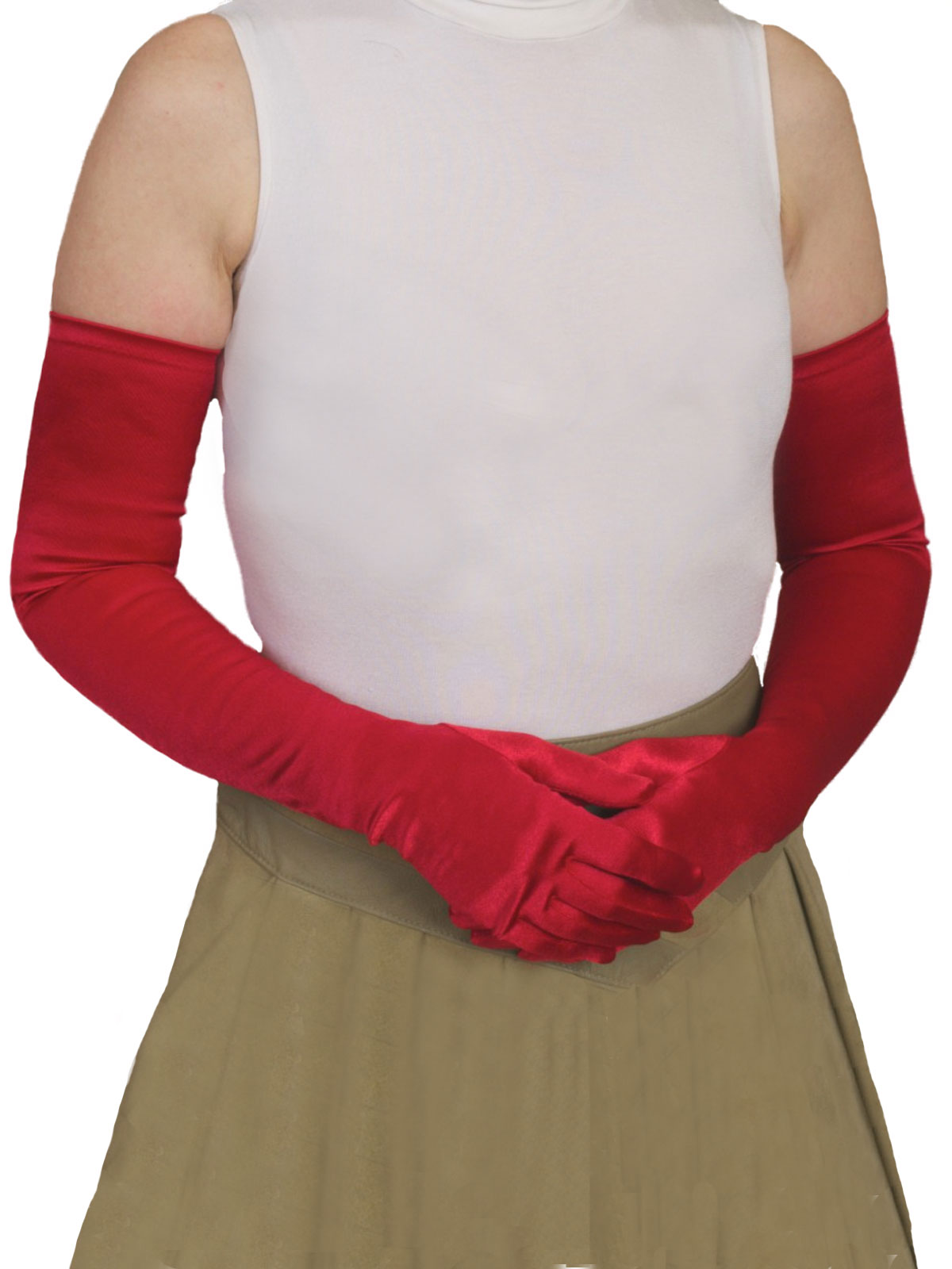 Dents Long Satin Gloves, full length, 10 colours - Tout ...
