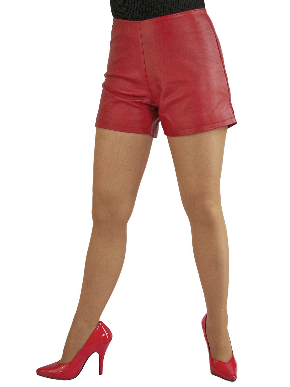 womens leather hot pants shorts 3 colours tout ensemble. Black Bedroom Furniture Sets. Home Design Ideas