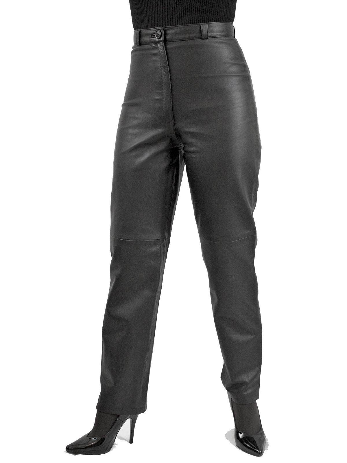 3b5b758635e Womens Black Leather Trousers - Tout Ensemble