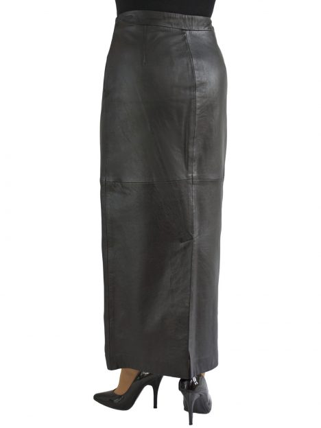 Black Leather Maxi Skirt