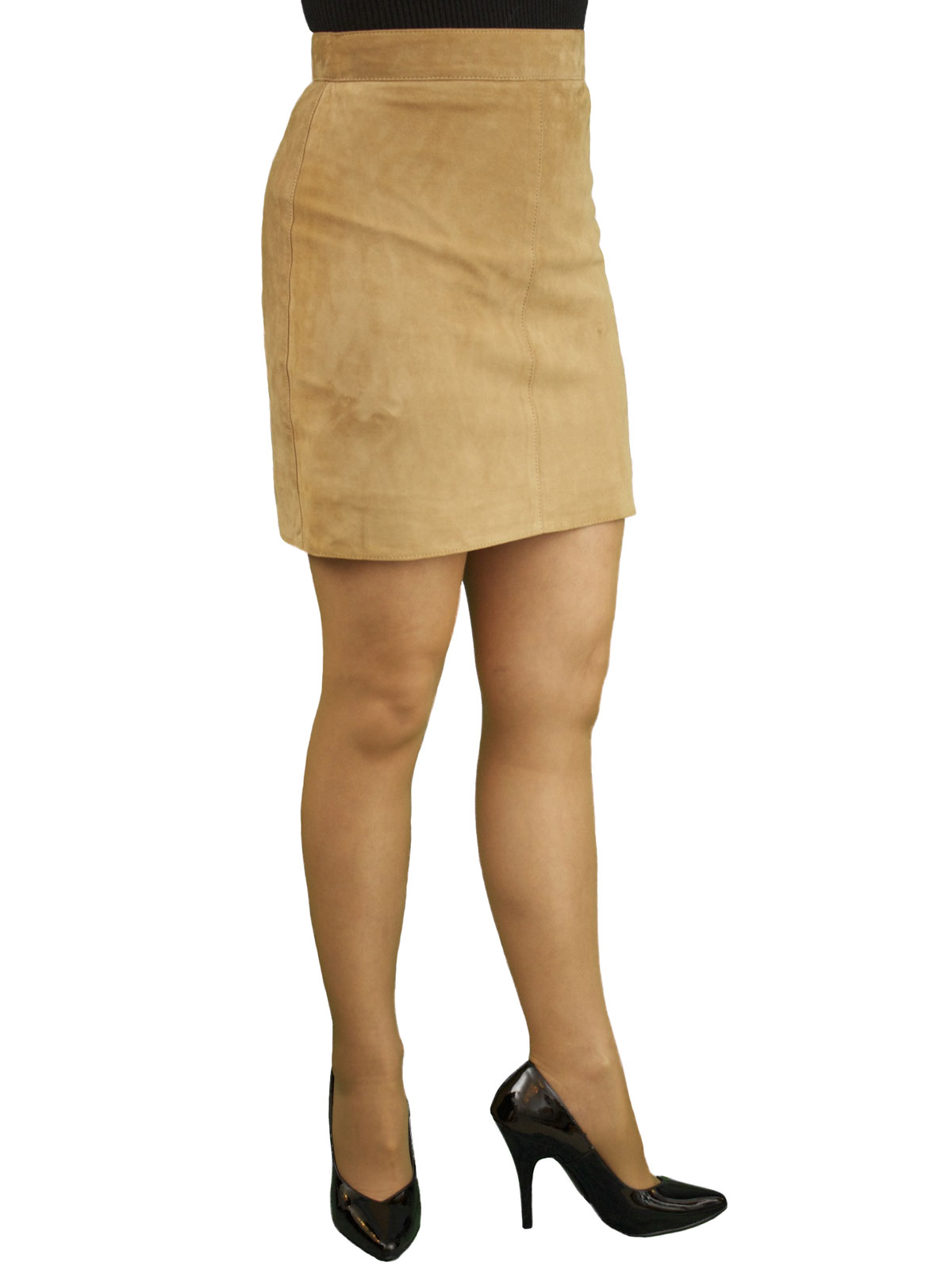 Tan Suede Mini Skirt