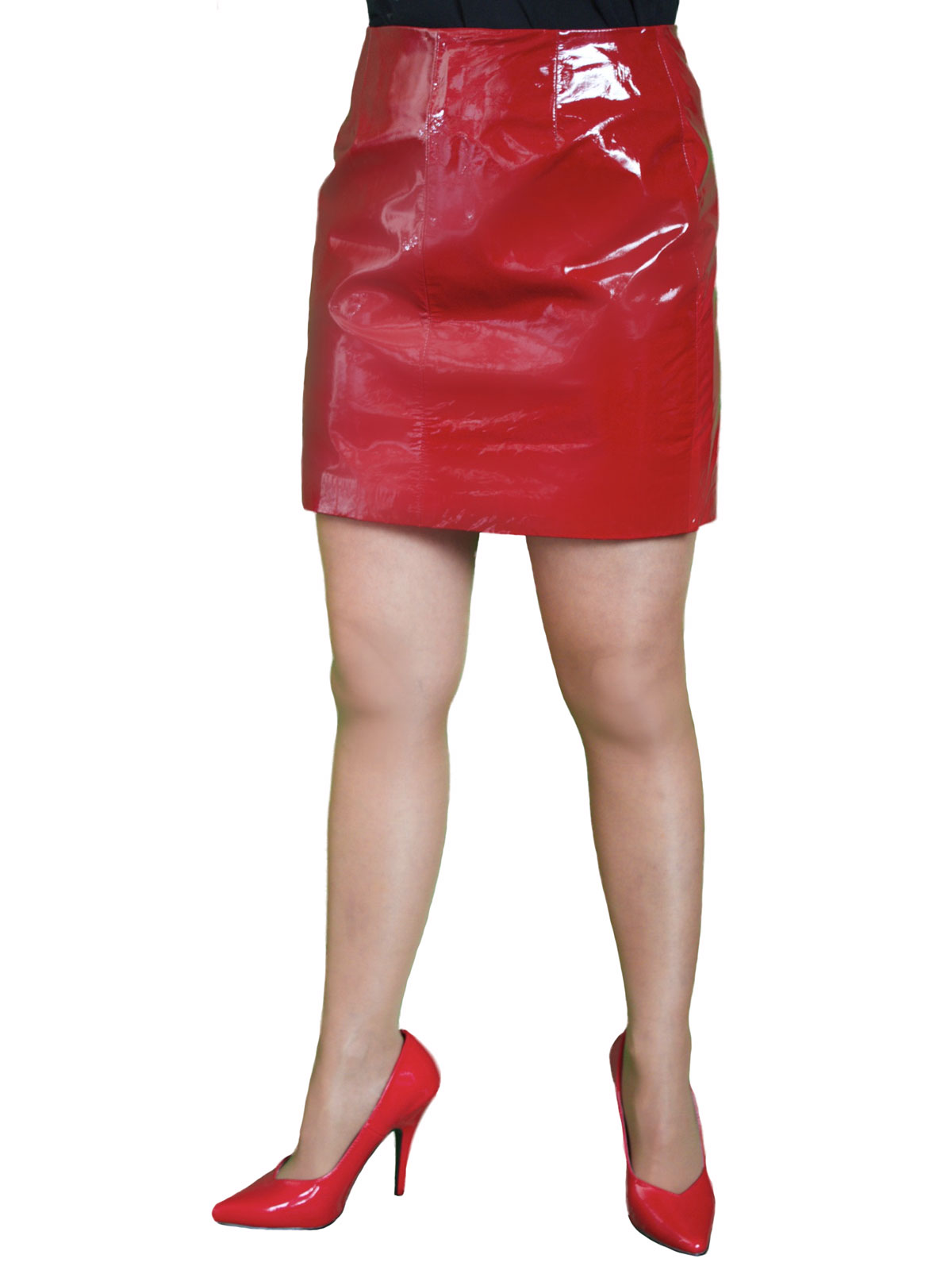 Patent Leather Mini Skirt (Red or White) - Tout Ensemble