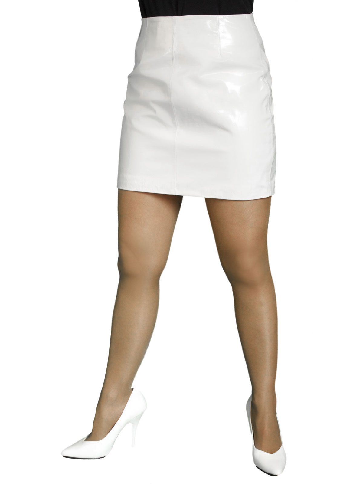 Patent Leather Mini Skirt (Red or White)