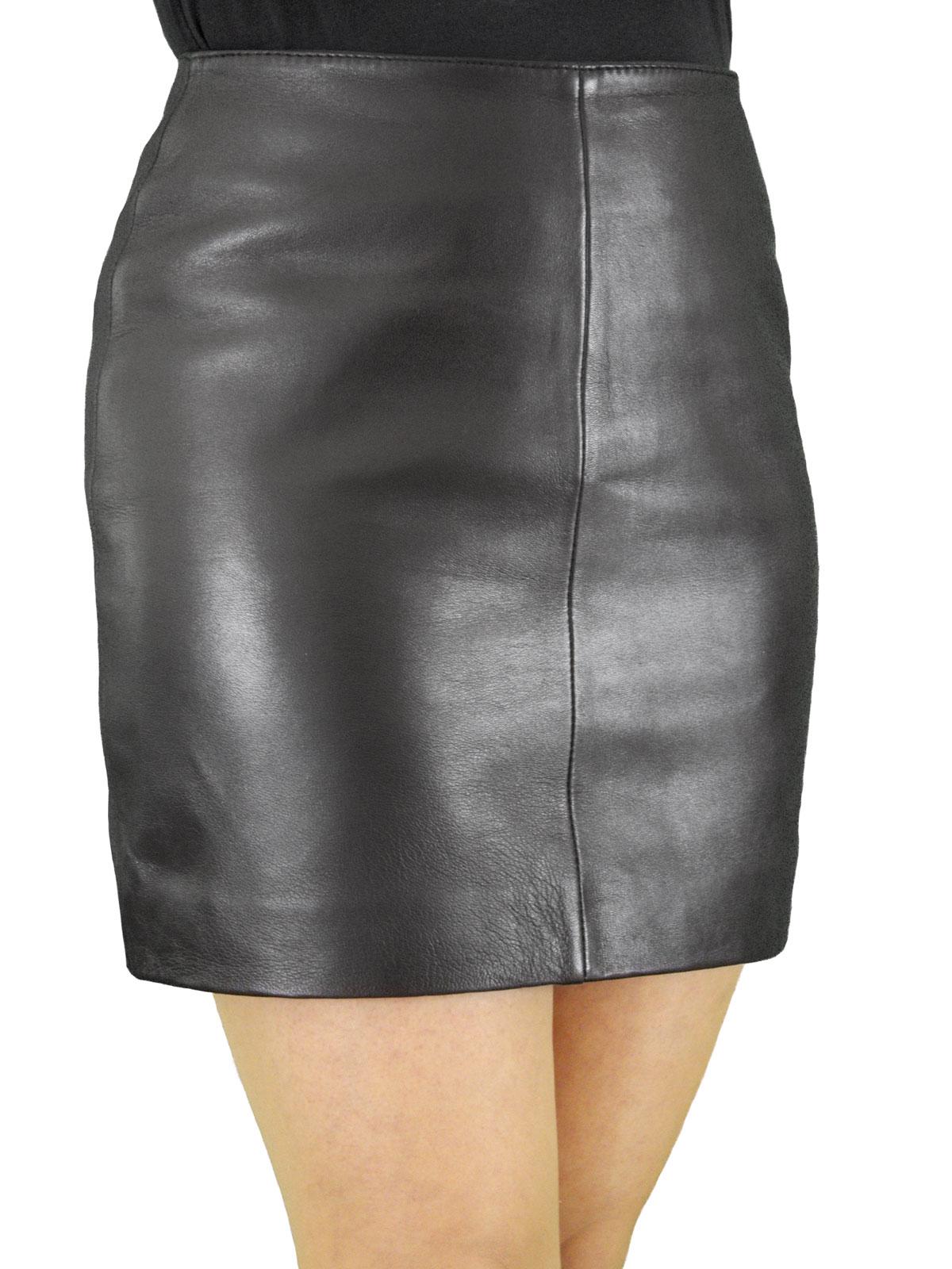 Luxury Soft Leather Mini Skirt - chic classic style - Tout Ensemble
