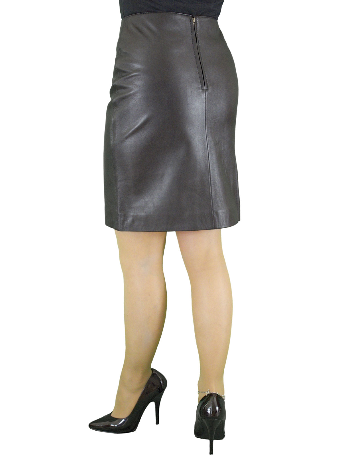 Luxury Leather Pencil Skirt, above knee 19in length (5 ...