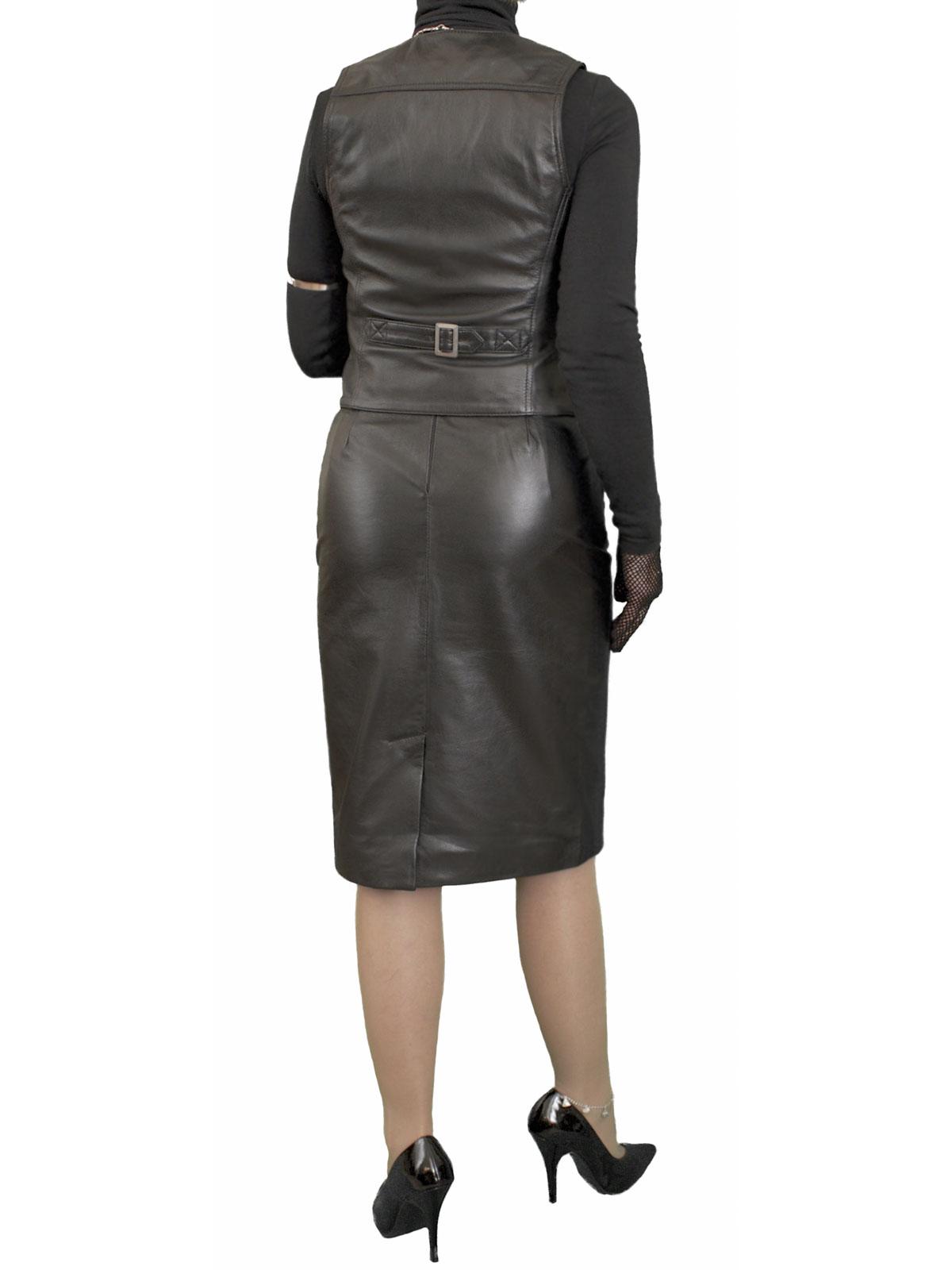 Leather Pencil Skirt luxury soft knee length - Tout Ensemble