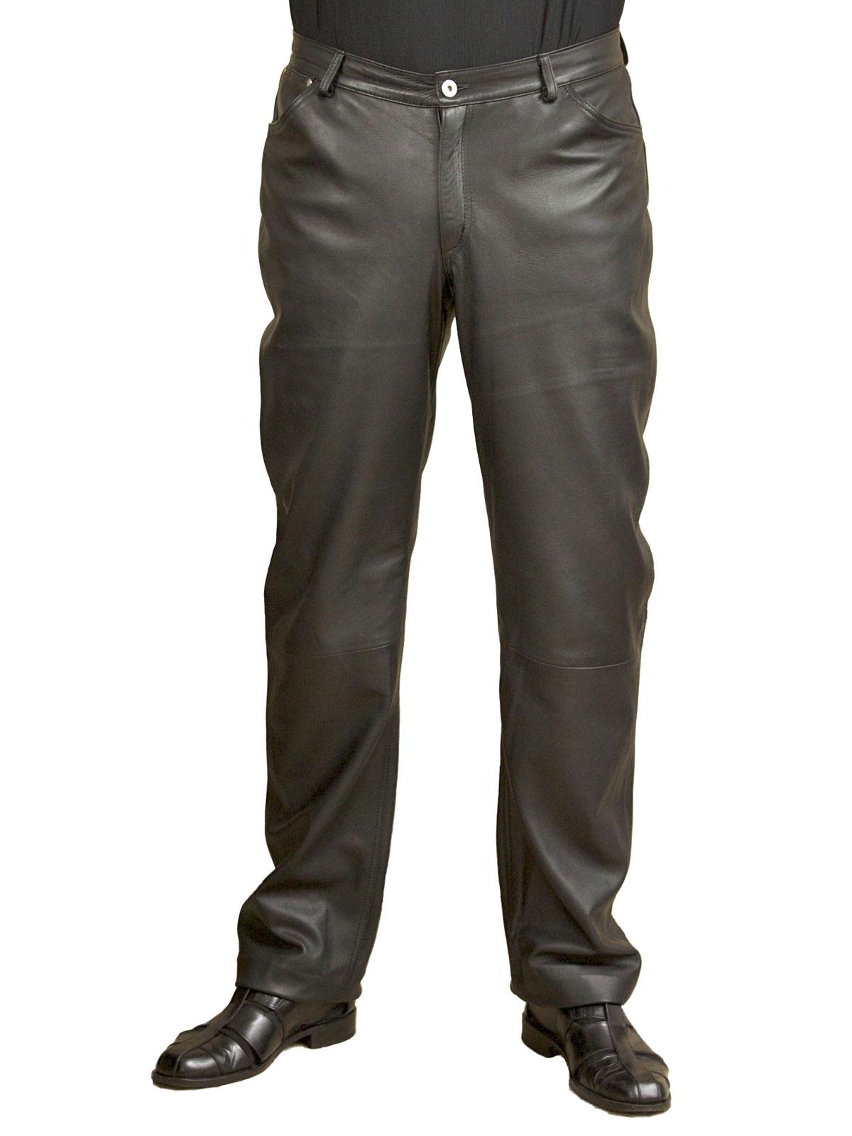 a6fe5b08cf78f Mens Black Soft Leather Trousers Jeans - Tout Ensemble