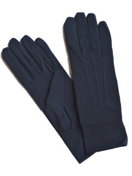 Dents Navy Short Matt Satin Dress Gloves