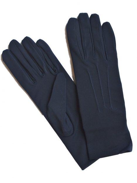 Dents Navy Short Matt Satin Dress Gloves
