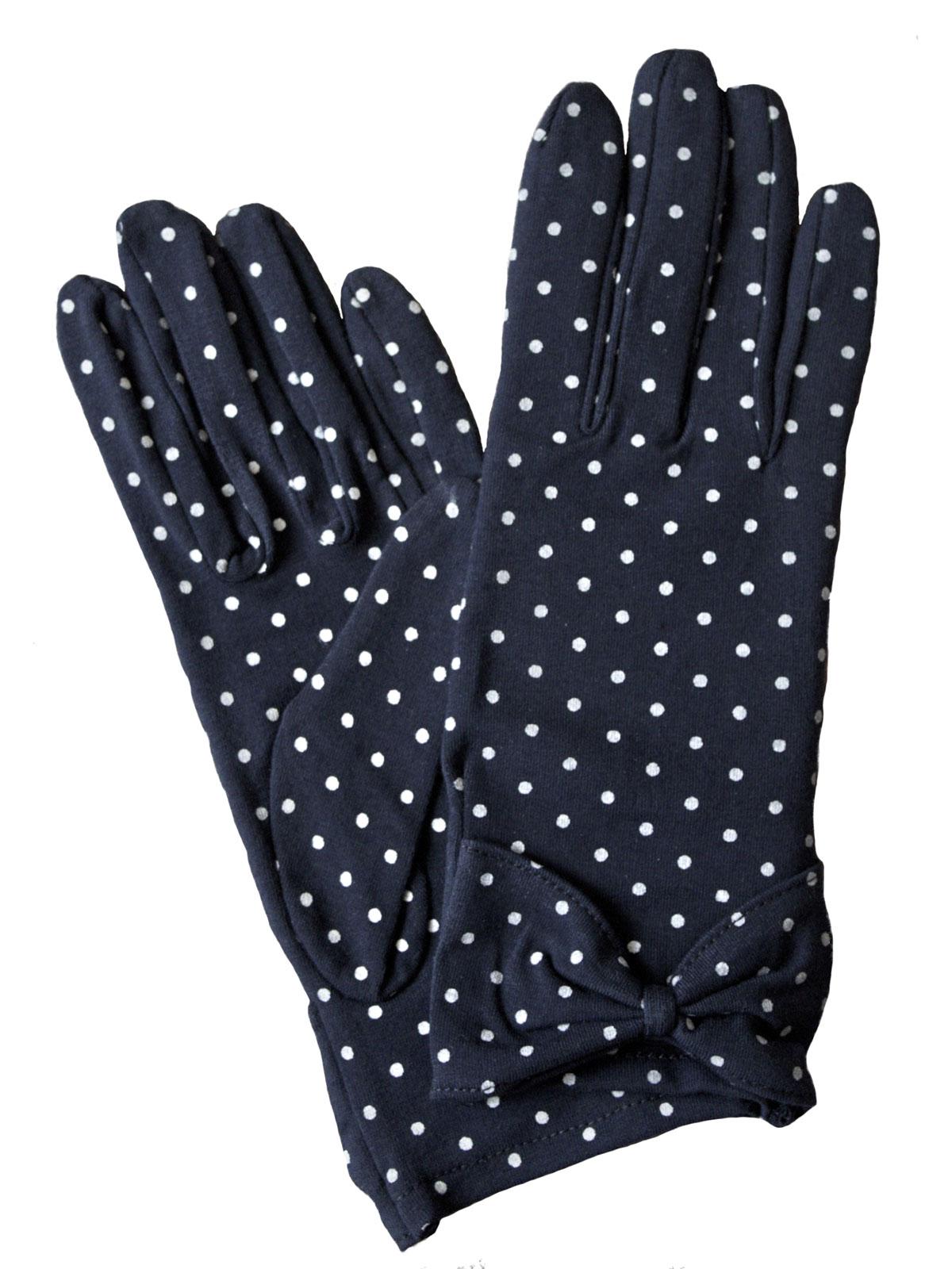 Dents Cotton Vintage Polka Dot Gloves 3 Colours Tout