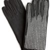 Dents Ladies Short Black Dress Gloves with mesh back