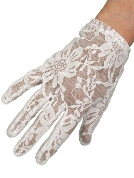 Dents Ladies Extra Short White Lace Dress Gloves