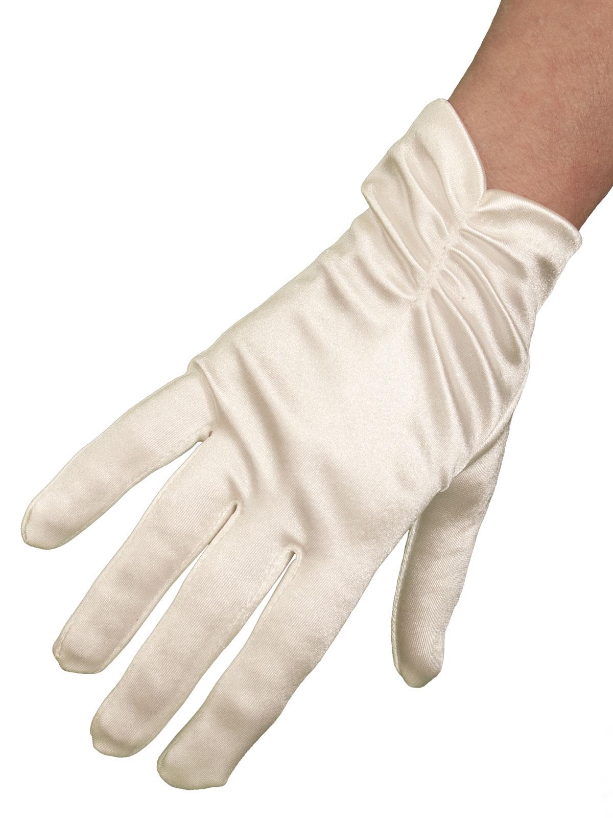 Dents Ruched Short Satin Dress Gloves