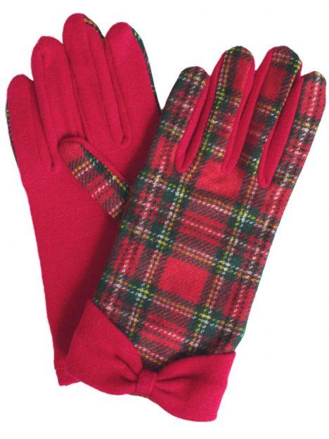 Dents Ladies Royal Stewart Wool Tartan Gloves