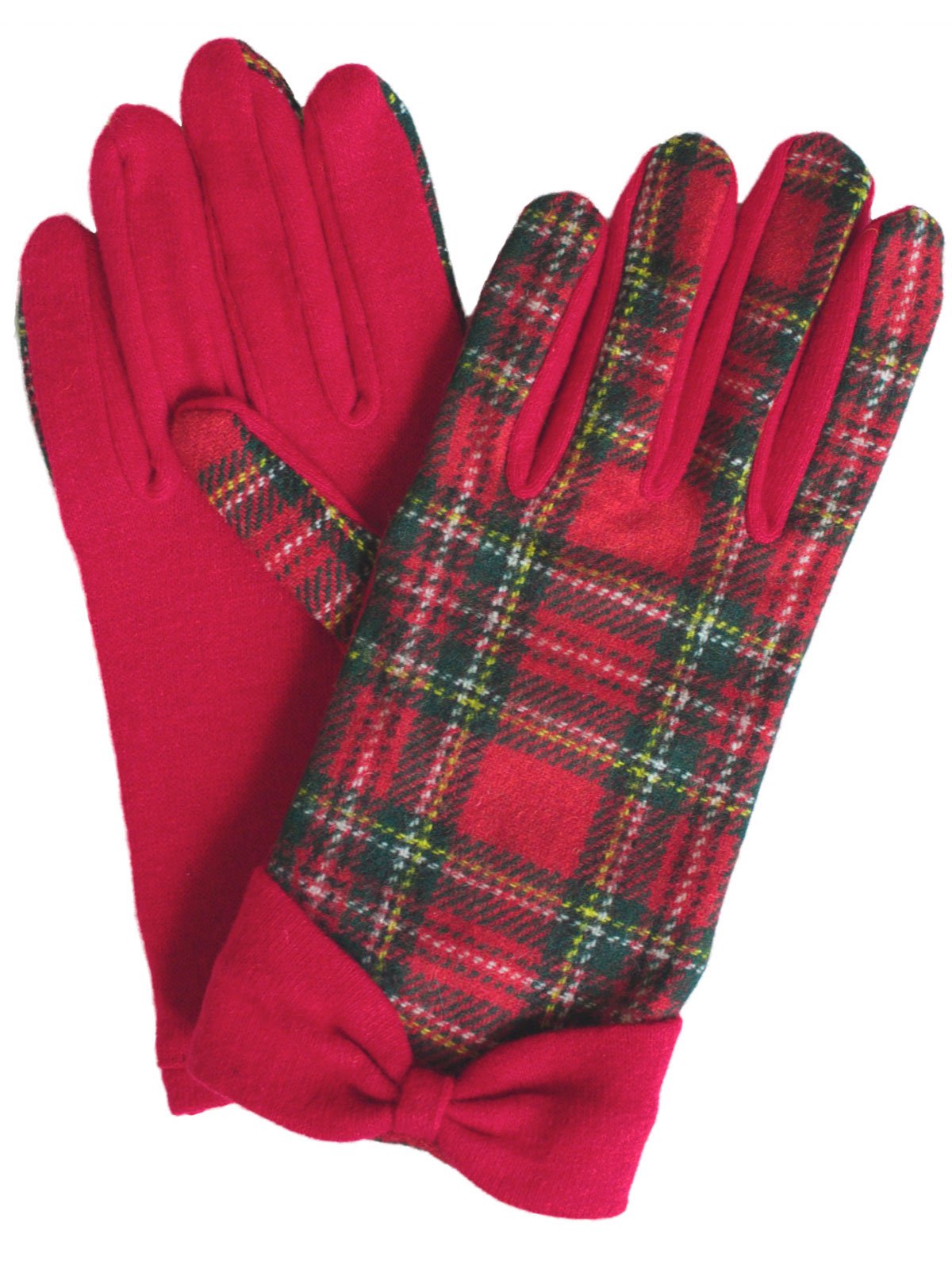 Dents Ladies Royal Stewart Wool Tartan Gloves