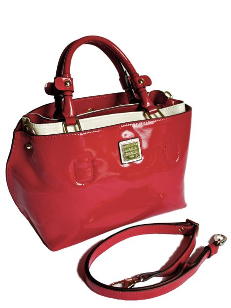 Maria Carla Red Patent Leather Grab Bag