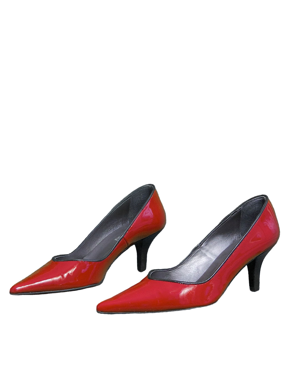 43e03eb6796 ... Gucinari Ladies Red Patent Leather Low Heel Shoes