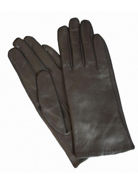Pia Rossini Ladies Plain Black Leather Gloves