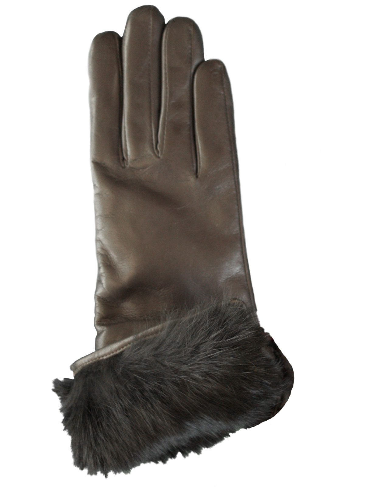 Dents Leather Gloves With Fur Lined Cuff Womens Tout