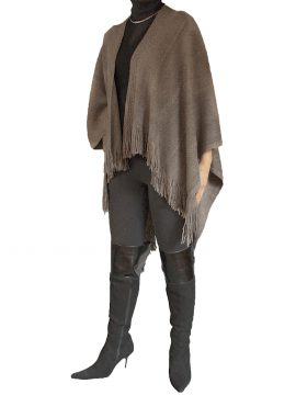 Pia Rossini Mink Womens Wrap Shawl, fringed