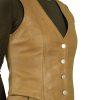 Womens Tan Leather Waistcoat