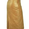 Tan Luxury Leather Skirt