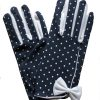 Dents Navy Vintage Polka Dot Dress Gloves