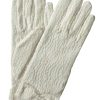 Dents Ivory Cream Pastel Vintage Lace Gloves with bow cuff