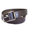 Mens Brown Leather Belt Buckle style 1