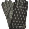 Dents Womens Wool Mix Spot Touchscreen Gloves, Charcoal
